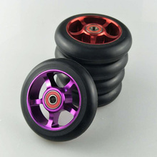 Buy 88A 100mm Scooter Wheels Aluminium Alloy Steel Wheel Hub High Elasticity Precision speed skating wheel for $20.09 in AliExpress store