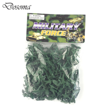 100 Pcs Nostalgic Bag Packed Army Man Set Toy Soldiers Mini Puppet Doll Toys Kids Classic Military Soldier Figures Set Model Toy(China)