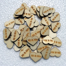 50pcs/lot wood heart shape buckle MR&MRS/LOVE/Just Married Wedding decoration buckle wooden props wedding&party supplies