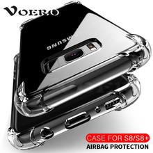 soft transparent TPU case For Samsung Galaxy S7 Edge S8 silicon cover For Samsung S8 Plus Note 8 case cover clear back cover(China)