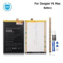 Doogee Y6 Max/Y6Max 3D Battery 4300mAh 100% Original Replacement accessory accumulators For Doogee Y6 Max +Tools+Adhesive