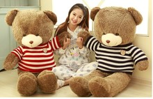 huge 120cm sweater teddy bear , brown bear plush toy ,throw pillow , birthday gift t6894(China)