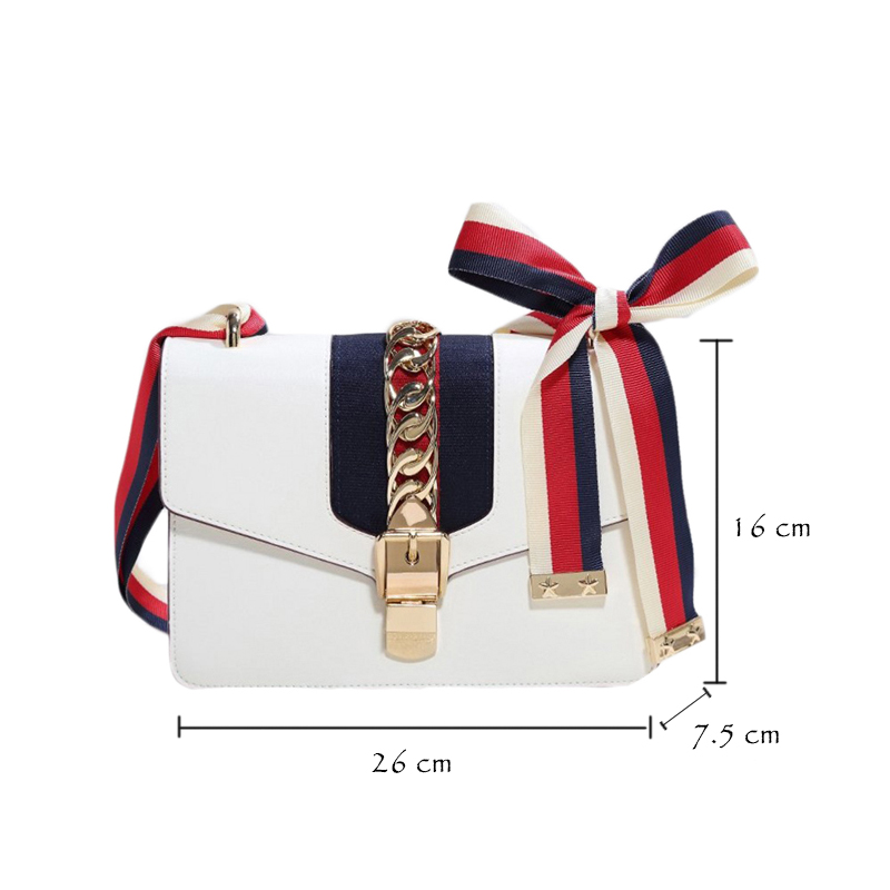 M.S Scarves Panelled Striped Handbags Made Of Leather Brand Small Vogue Shoulder Bags Women Totes Luxury Designer Handbag WB398 (4)