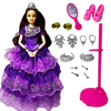 "11 Moveable Joint Body Princess Babe Doll 30cm 11"" Wedding Design Dress Suite Kids Toy Brinquedo Girl Gift,YF02(China)"