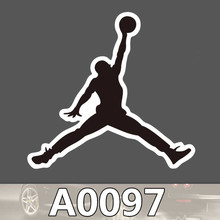 A0097 Air Jordan Trend Sports Brand Waterproof Sticker for Cars Laptop Luggage Fridge Skateboard Graffiti Notebook Stickers