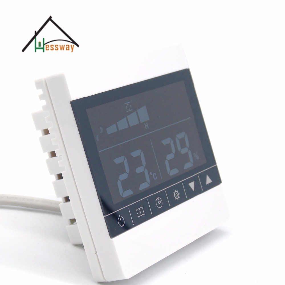 Filter alarm bypass valve switch Three-speed ventilator fresh air system with honeywell Temperature humidity sensor<br>