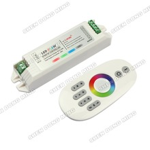 2.4G RGBW LED controller Touch pannel LED controller 12V/24V 24A Wireless Finger touch ring Remote 432Watt for LED RGBW Strip