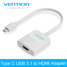 Vention USB 3.1 Type C Male to HDMI Female Adapter converter Cable Support 4K*2K for Apple MacBook Google Chromebook Pixel(China)