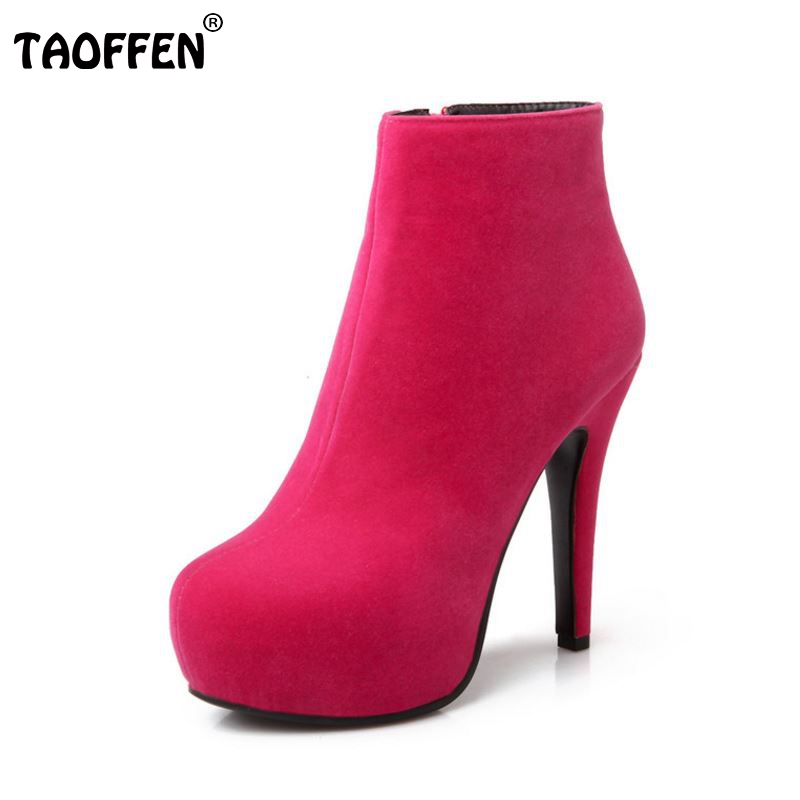 Women Ankle Boots High Heel Platfoms Winter Fashion Botas Sexy Warm Fur Ladies Boot Heels Footwear Shoes P15367  EUR Size 31-45<br><br>Aliexpress