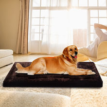 Waterproof Large Warm Soft Fleece Pet Pad Dog Cat Puppy Bed Mat Kennel Cushion PS6097(China)