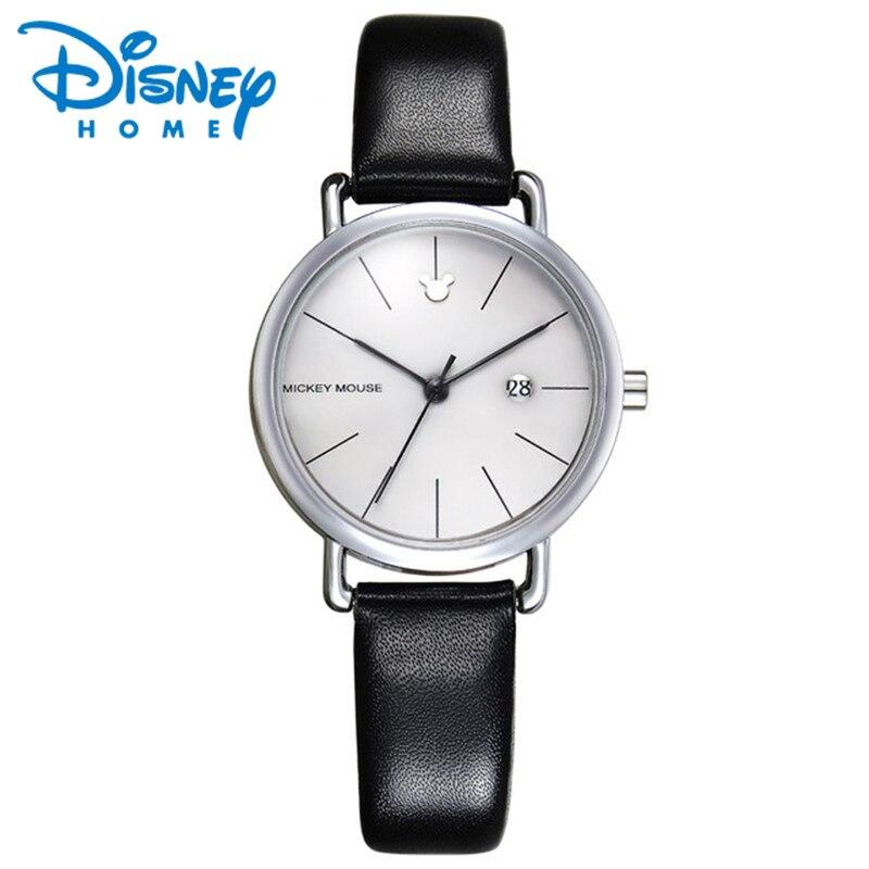 DISNEY Luxury Watches Women Fashion Simple Leather Quartz Date Watch Women Ladies Wrist Watch Female Clock Hodinky Montre Femme<br>