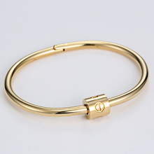 Top Quality Stainless Steel Cuff Nail Bangle Luxury Brand Bracelets Bangles For Men Love Bracelet manchette pulseira masculina