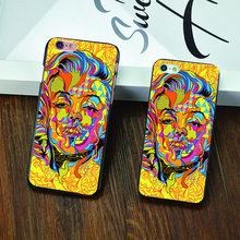 2016 New Classic comic book abstract figure DRIP design phone case For iphone 4 4s 5 5c 5s 6 6s plus Black skin Hard shell