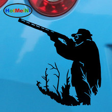 HotMeiNi 12*12.7CM 10 Color Funny People Car Sticker A Mounted Hunter Hunting Decals Waterproof Reflective Vinyl(China)