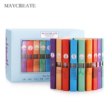 MayCreate Original Perfume Fashion Lady Atomizer Gift Mini Perfume Bottle Glass Female Women Parfum Flower Fragrance 1Set 9Pcs(China)