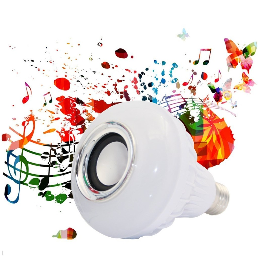 Wireless 12W  LED RGB Color Bulb Light E27 Bluetooth Control Smart Music Audio Speaker Lamps<br><br>Aliexpress