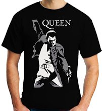 O-Neck Teenage T-Shirt Printed  T Shirt Short Sleeve Men Queen Freddie Mercury T-Shirt Cool T-Shirts Designs Best Selling Men