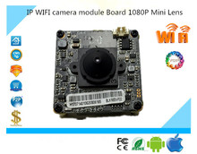 IP Wireless WIFI camera module Board 1080P All Color Mini Lens Support 32G Mini SD Card Two-Way Audio IRC Alarm P2P Survillance(China)