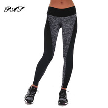 Buy Plus Size Fitness Leggins Workout Pants Women High Waist Leggings Double-Sided Black Gray Stitching Hip Elastic Increase Pants for $6.79 in AliExpress store