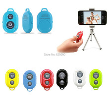 Wireless Bluetooth Remote Control Self-Timer Camera Shutter + small Tripod For iPhone Samsung