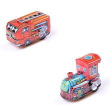 Clockwork Spring Locomotive Classic Toys Retro Steam Train Reminiscence Children Vintage Wind Up Tin Toy For Children Baby Kids(China)