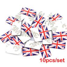 10pcs/lot, New Car styling UK small Decorative Badge Hub caps Steering wheel for BMW MINI Bentley Buick Car Emblem Sticker(China)