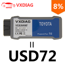 VXDIAG VCX NANO for TOYOTA TIS Techstream V12.00.127 Compatible with SAE J2534 USB Connection OBD2 Diagnostic Tool(China)