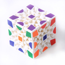 3D Cube Puzzle Magic Cube 3 x 3 x 3 Gears Rotate Puzzle Sticker Adults Child's Educational Toy Cube MU838759(China)