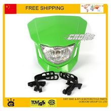 X2 T4 T8 CQR GY KTM motorcycle head lights  head light LED Mask Headlight  black orange white color