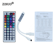 Buy ZINUO 1pcs DC12V 44Key Mini IR Remote Controller Flexible Tape SMD3528 5050 RGB LED Strip Lights for $1.74 in AliExpress store