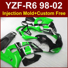 O7C3 Hot sale green fairing parts for YAMAHA fairing kit YZF  R6 98-02 custom fairing YZF R6 1998 1999 2000 2001 2002 5CEX