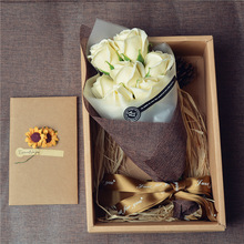 Great Artificial flower Birthday gifts girls girlfriends romantic creative soap flower practical Christmas small gifts 5part(China)