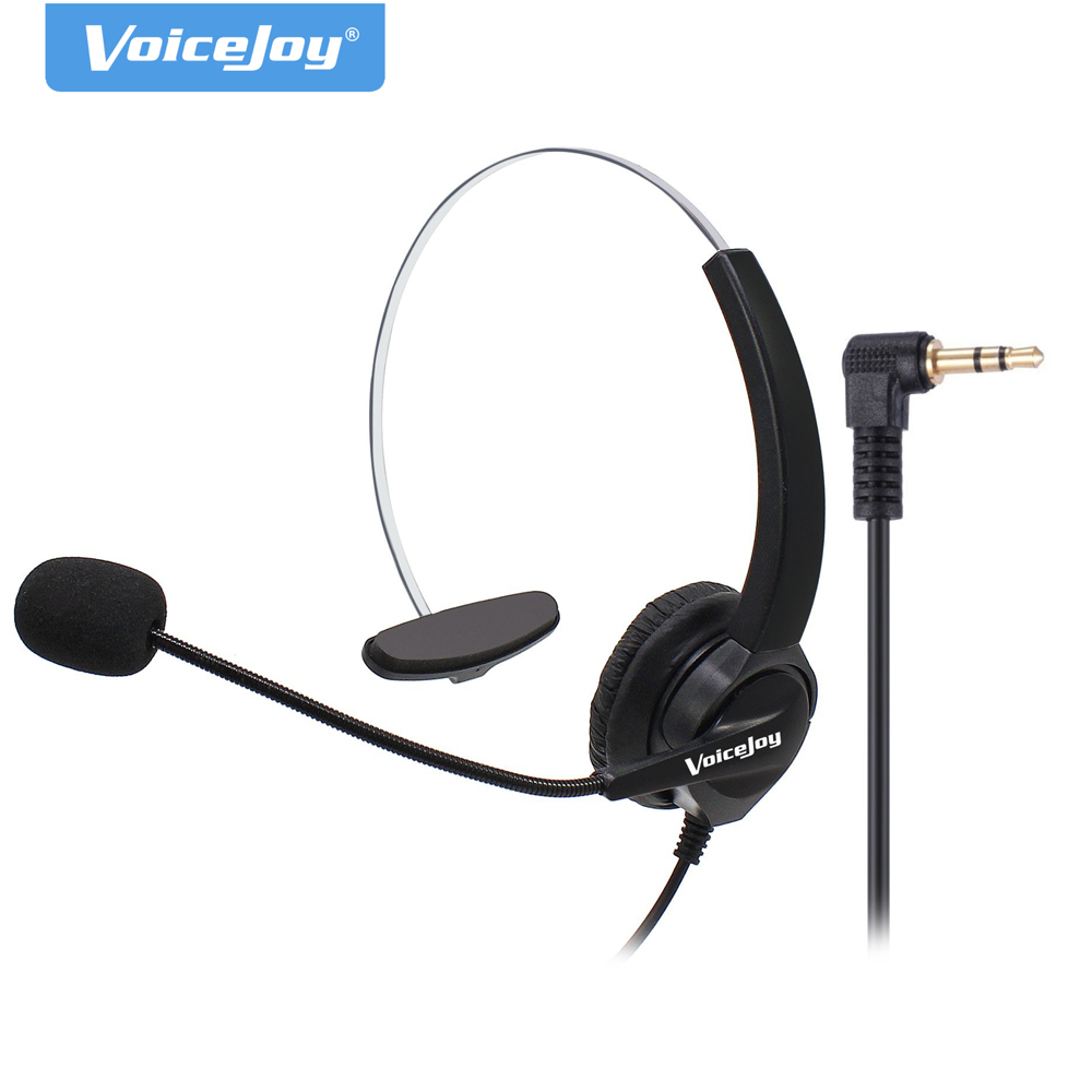 2.5mm Plug headset Noise cancelling microphone for CISCO Linksys SPA Polycom Grandstream Panasonic Zultys & Gigaset IP phones(China)