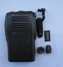 New Black Housing Case Front Cover Shell Surface +Label +Knob Dust Cover For Motorola GP344 Radio