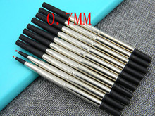 blue or Black Good Quality 0.7mm 10pc Roller ball Pen Refills(China)