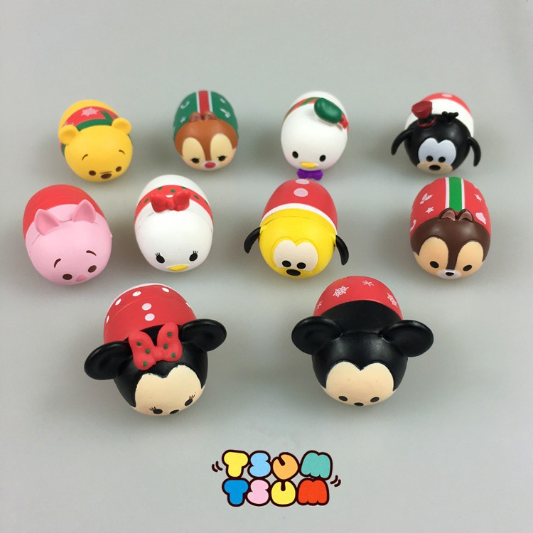 10PCS/set Christmas Version Tsum Tsum Mini Figures Set Collection Cute Toys Dolls for Children Birthday Christmas Gifts<br><br>Aliexpress