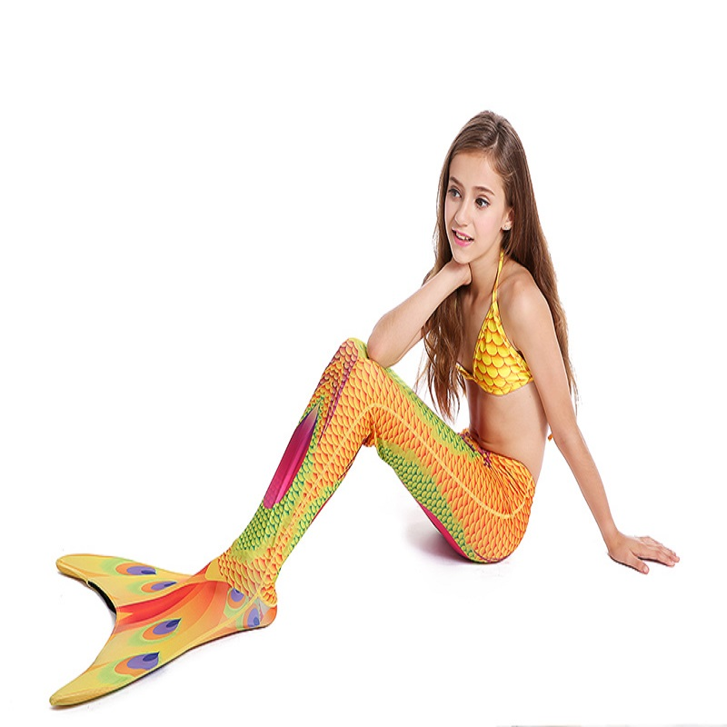 LumiParty Mermaid Tails for Swimming with Monofin, Swimmable Swimwear Set for Kids, Boys and Girls<br>