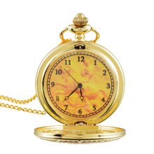 MJARTORIA Alloy Full Metal Pocket Watch Gold Plated Pocket & Fob Watches Analog Long Chain Pendant Necklace Mens Womens Kids