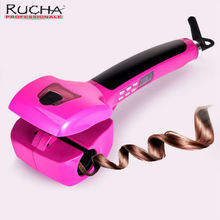 RUCHA Automatic Rolling Hair Curling Iron with Spray Steam Hair Treatment Curler Hair Wand for Magic Wave Curls Roller Hair Care(China)