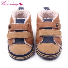 Fashion Winter Newborn Baby Boys Shoes Warm First Walker Infants Boys Antislip Boots Children's Shoes(China)