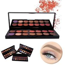 14 Color Pearl Matte Eye Shadow 3 Style Multi-Color Eye Shadow Palette Cosmetics Mineral Nude Glitter Waterproof Eyeshadow(China)
