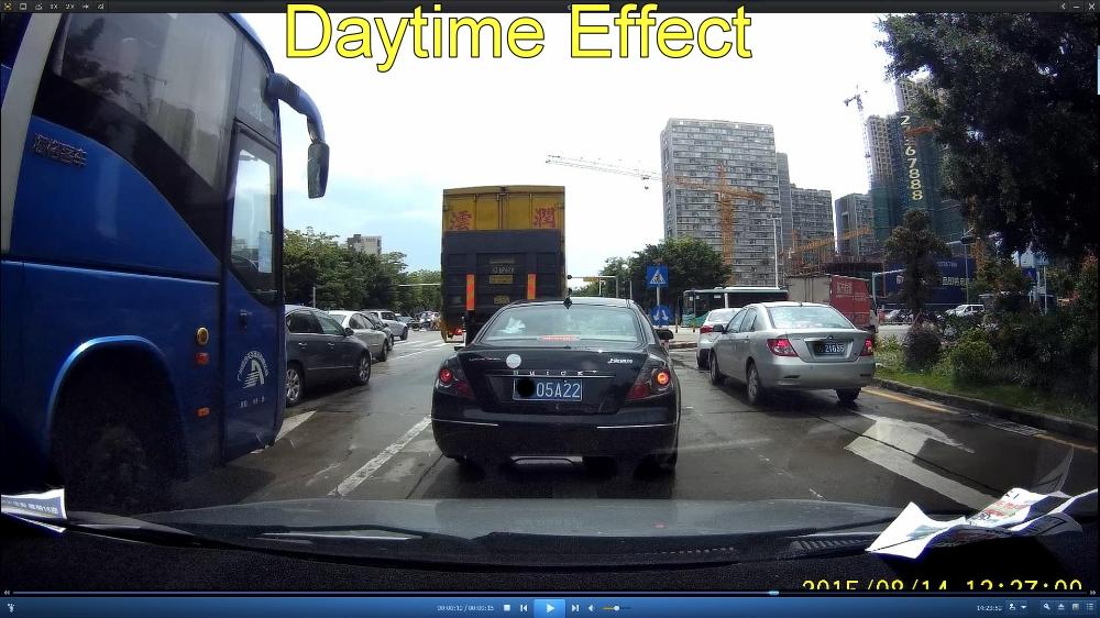 Car DVR Daytime Effect