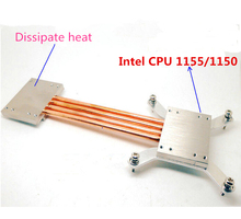 For Intel 1151 1155 1150 computer Fanless CPU radiator Copper heat pipe DIY kit aluminum computer case quiet Silent radiator