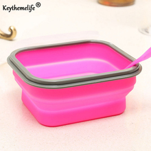 Keythemelife 1pcs Food Storage Container Fresh Keeper Box Crisper Foldable silicone seal corrosion lunch bowl DA