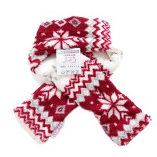 Christmas Warm Pet Dog Scarves Puppy Bow Tie Dogs Collars Cat Scarf Winter Accessories Products for Pets(China)