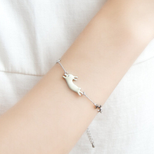 Timlee B060 Free Shipping Cute Fate Running Rabbit Cat Star Bracelets,Fashion Jewelry Wholesale