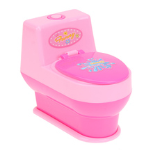 Toilet Mini Simulation Kids Children Toy Home Appliances Baby Girls Pretend Play House Simulation Early Educational Toy(China)