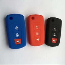 Silicone rubber car key cover case for India Malaysia Proton Exora 3 buttons remote key Holder(China)