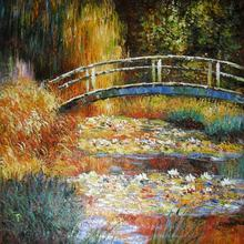 Unframed Claude Monet new Arrivals free shipping printed painting canvas Curved bridge impressionist painting home decor