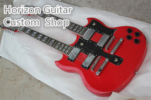 New Arrival SG 175 Double Neck Guitar 6 12 Strings  Electrica Guitarra China Factory In Stock For Sale
